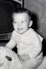 Transgender author Alana Sholar as a baby