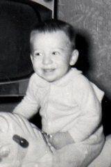 Transgender author Alana Sholar as a baby
