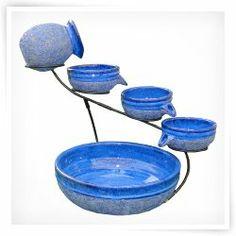 Smart Solar Blueberry Ceramic Solar Cascade Fountain
