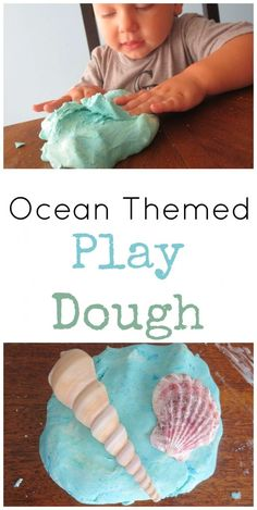 Ocean Themed Play Dough » My Mundane and Miraculous Life