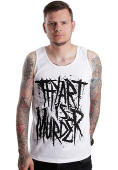 Thy Art Is Murder - Logo White - Tank - Official Merch Store - Impericon.com UK