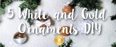 This White and Gold Homemade Christmas Ornaments DIY are perfect to have an elegant and Fancy Christmas Decorations. Elegant Christmas Decor, Simple Christmas, Gold Christmas Ornaments, Christmas Decorations, Xmas, Homemade Ornaments, Homemade Christmas, Sewing Patterns Free, Free Sewing