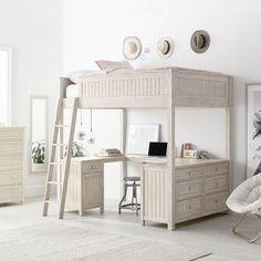 Farmhouse Bedding Inspirational Ideas – Modern Home Teen Girl Bedrooms, Teen Bedroom, Dream Rooms, Dream Bedroom, Room Ideas Bedroom, Bedroom Decor, Loft Beds For Teens, Pb Teen, Dresser Sets