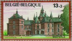Sello: Castles: Westerlo (Bélgica) (Castles) Mi:BE 2318,Sn:BE B1064,Yt:BE 2266,Bel:BE 2266
