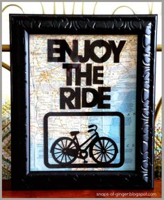 Enjoy the Ride Decoupaged Picture