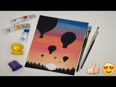 Beginner Friendly Painting Tutorial for Beginners Step by Step Watercolor Art, Maya, Triangle, Heaven, Paintings, Autumn, Landscape, Spring, Winter