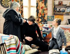 Examples of Crochet in TV and Movies, There are lots of crochet blankets on the couches in British TV show Dingle Family