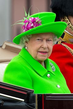 Queen Elizabeth II Photos - Queen Elizabeth II sits in a carriage during the Trooping the Colour, this year marking the Queen's 90th birthday at The Mall on June 11, 2016 in London, England. The ceremony is Queen Elizabeth II's annual birthday parade and dates back to the time of Charles II in the 17th Century when the Colours of a regiment were used as a rallying point in battle. - Trooping The Colour 2016