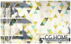 tapete TRIANGLE von CGHOME auf DaWanda.com
