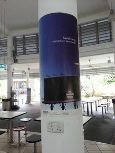 On a pillar