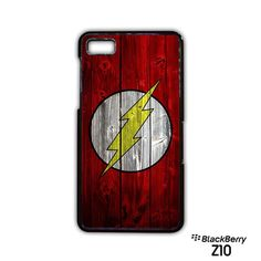 Flash logo on the wood wall AR for Blackberry Z10/Q10 phonecase