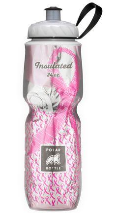 Polar Bottle customized breast cancer