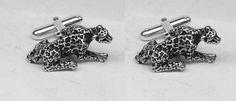 Leopard Cufflinks Sterling Silver Free Domestic by oldtrekkie, $75.00