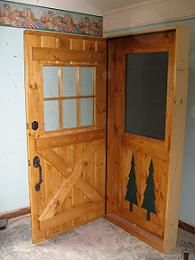 Custom Six Lite Stockade Door With Cross Buck And Custom Matching Screen  Door