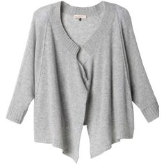 Rebecca Taylor Drape-Front Cardigan ($350) ❤ liked on Polyvore
