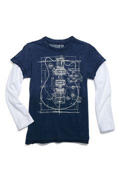 guitar blueprint tshirt