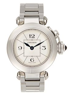 Cartier Miss Pasha Stainless Steel Watch, 27mm from Jewelry Vault: Vintage Watches on Gilt