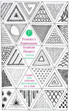 the triangle embroidery sampler project