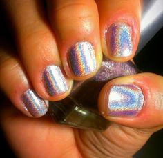 Holographic Nails. Pink Holo by Urban Outfitters