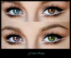 PS PHOTOSHOP TUTORIAL - a simple but very effective way to CHANGE the COLOR of your EYES avoiding a FAKE look    *click for the VIDEO*