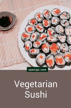 Teriyaki Tofu and Veggie Sushi Recipe: Vegetarian Sushi from Sushi Recipes, Vegetarian Recipes, Veggie Sushi, Teriyaki Tofu, Marinated Tofu, Baked Tofu, Vegan Life, Carrot