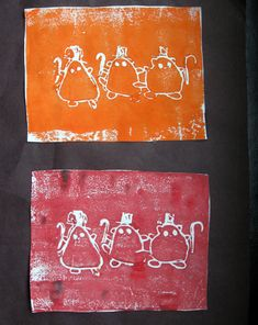 Activities: Etching Art  Love:  Styrofoam (plates or other), tempera paint, toothpicks or other, paint roller