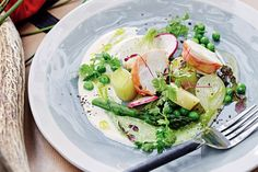 Lobster salad with herby creme fraiche