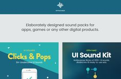 Sound packs for apps, games or any other digital product