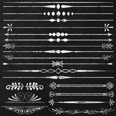 Clipart Chalkboard Page Text Dividers by JubileeDigitalDesign