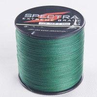 Wish | Top quality SPECTRA 4 strand 300m/330yard 6-100LB moss green 100% PE braided fishing line