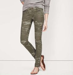 Camo Tall Print Tailored Twill Skinny Pants in Marisa Fit on shopstyle.com