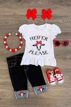 """Heifer Please"" Capri Pant Set"