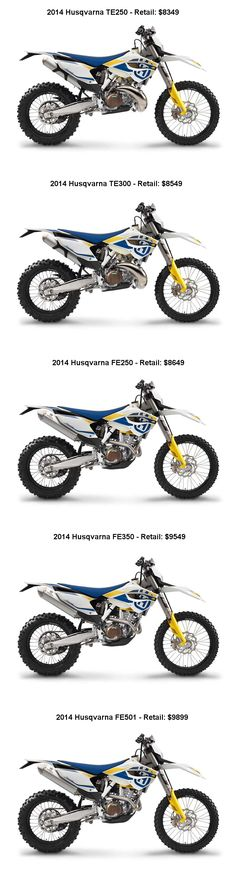 2014 Husqvarna TE FE Line Up And Retail Prices Contact Us For The Best