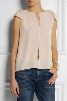 Chloé | Silk crepe de chine top