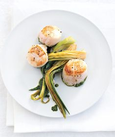 verde seared scallops with fennel cream seared scallops with wilted ...
