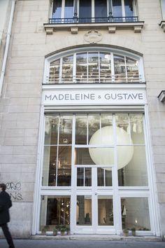 Madeleine & Gustave 19 rue Yves Toudic 75010 Paris in einer ehemaligen Druckerei . Paris Shopping, Boutiques, Deco Paris, Boutique Decor, Hotels, Shop Fronts, Paris Photos, Deco Design, Monuments