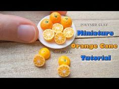 Here's my Tutorial Video on how to create Miniature Polymer Clay Oranges - Dollhouse Food. First I'll be showing you how to create the Orange Ca. Polymer Clay Dolls, Polymer Clay Miniatures, Polymer Clay Projects, Polymer Clay Charms, Diy Clay, Clay Crafts, Miniture Food, Miniture Things, Biscuit