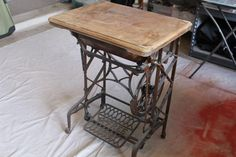 Before and After: Sewing Machine makeover using EvenGrain Stain