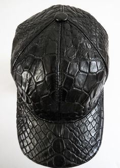 $2495 NWT FREDO FERRUCCI Alligator Crocodile Leather Hat Cap #FredoFerrucci #BaseballCap