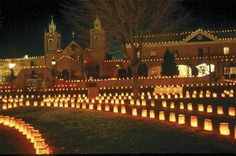 Take a stroll in beautiful Old Town at Christmas time, Albuquerque, NM