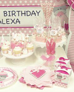 Wrap those Birthday Sweet Treats in these cute Sock Monkey Cupcake Boxes. #BirthdayExpress#SockMonkey#Pink#Party