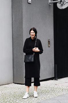 Outfit: #allblack - SCHWARZER SAMT