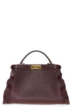 Fendi Fendi 'Medium Peekaboo - Wave' Leather Bag available at #Nordstrom