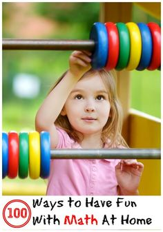 Fun enrichment math activities to do at home - for children age 3 and up.