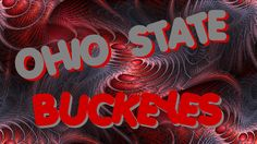 OHIO STATE BUCKEYES ON AN ABSTRACT FRACTAL BACKGROUND-BY Bucks7T2.