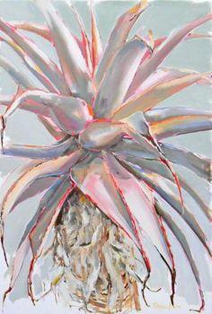 Large Aloe Painting - x - Inside Out Home Boutique Art Aquarelle, Watercolor Paintings, Flower Paintings, Watercolors, Aloe Oil, Protea Art, Abstract Flowers, Art Flowers, Botanical Art