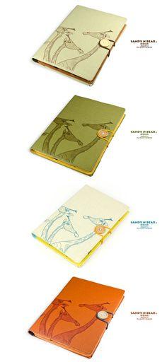 Design Tablet cover  Giraffe Cotton yarn / Hardcover by Sandynbear, $35.90