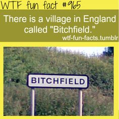 bitchfield - england MORE OF WTF-FUN-FACTS are coming HERE funny and weird facts ONLY