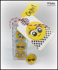 Hershey Kiss Treats created with the Shady Emojis, Bucket List Emojis, Lifers Emojis and Zippy Emojis from Peachy Keen Stamps.