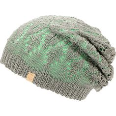 Don't limit your outfit options by grabbing the two for one Empyre girls Noble mint and grey reversible lace beanie. Rock the slight slouch fit grey lace patterned colorway for a more delicate look or the tight knit mint colorway on the reverse for a classic look, and faux leather Empyre brand tag.